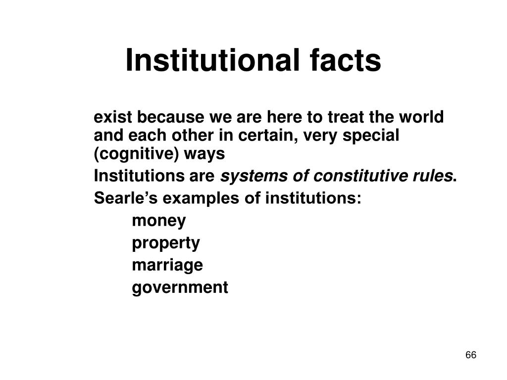 Institutional facts