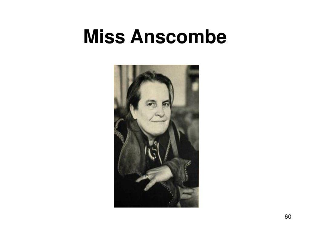 Miss Anscombe
