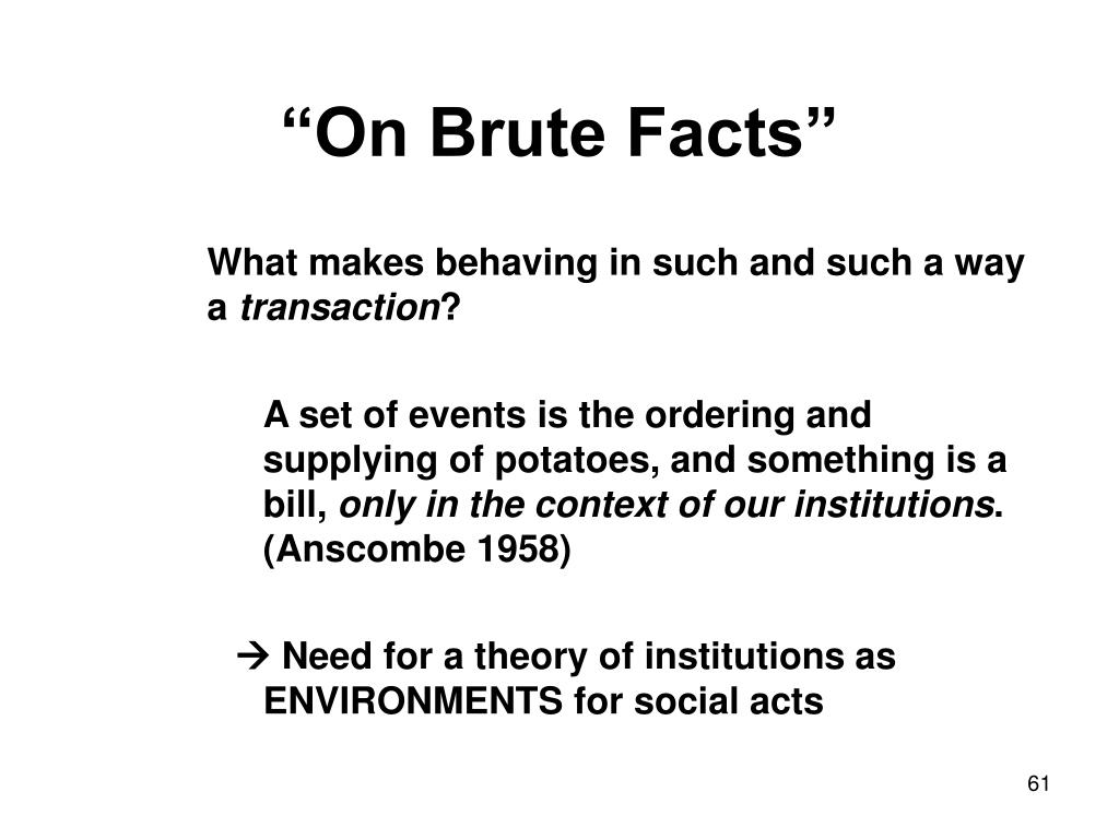 """On Brute Facts"""