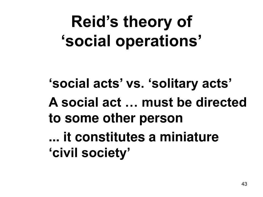 Reid's theory of