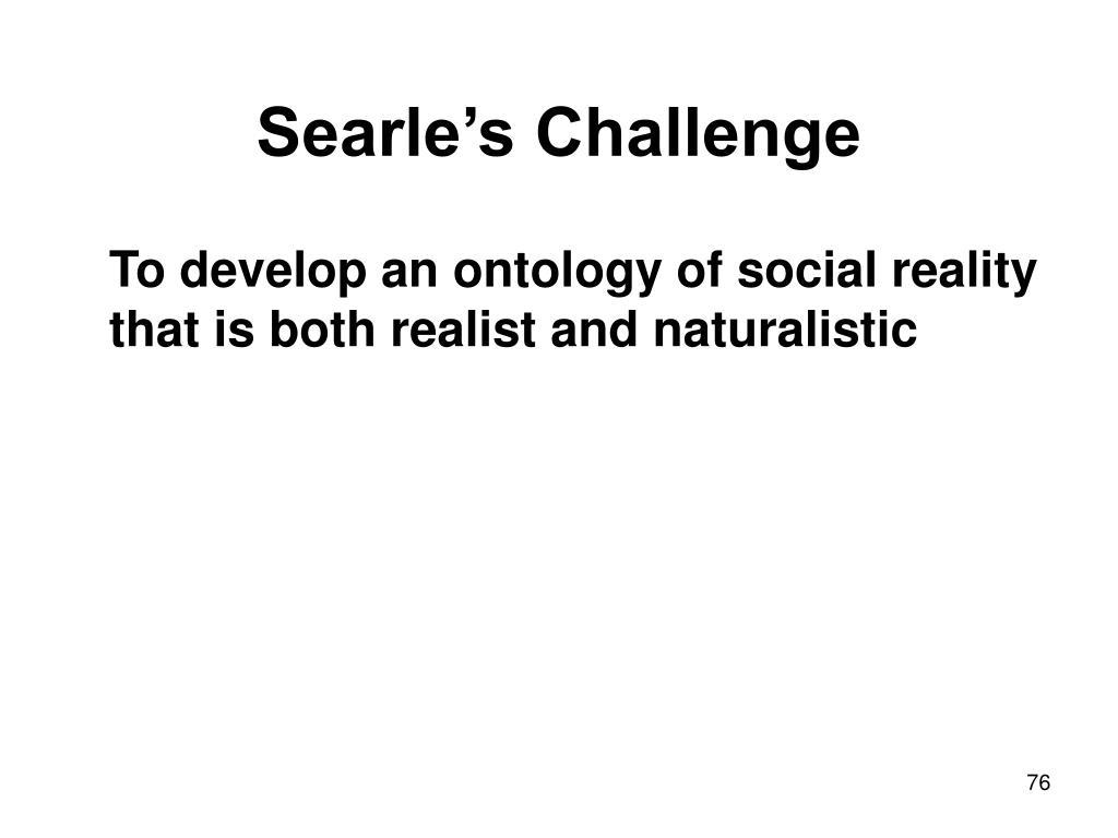 Searle's Challenge
