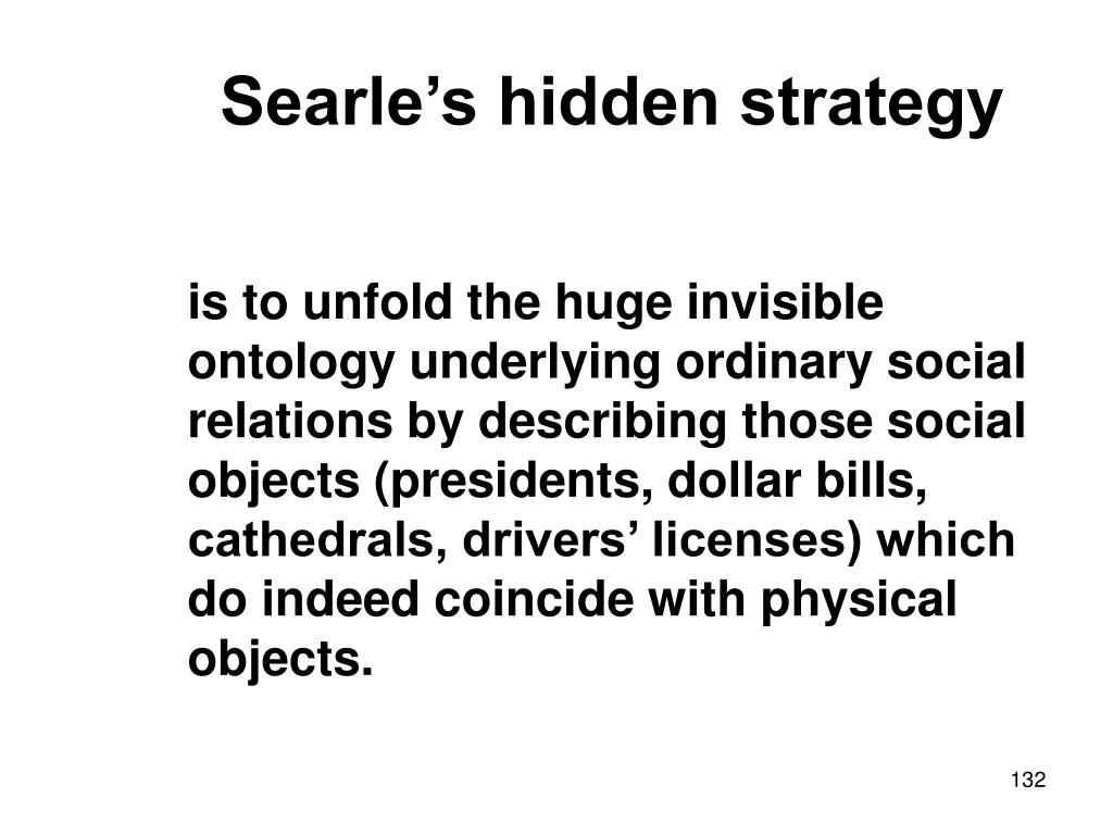 Searle's hidden strategy