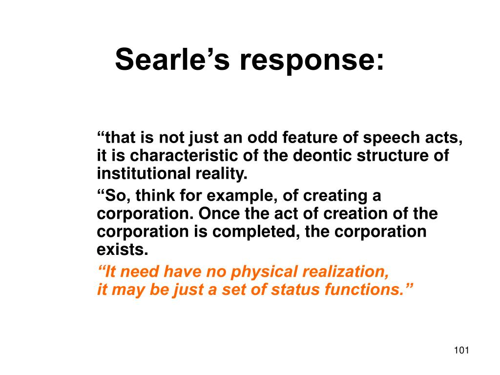 Searle's response: