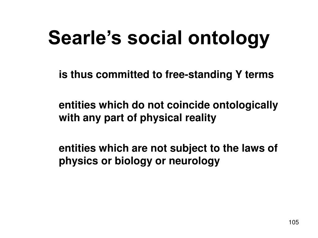 Searle's social ontology