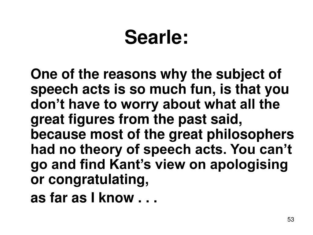 Searle: