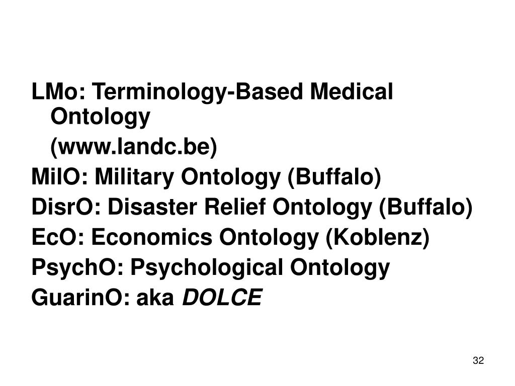 LMo: Terminology-Based Medical Ontology