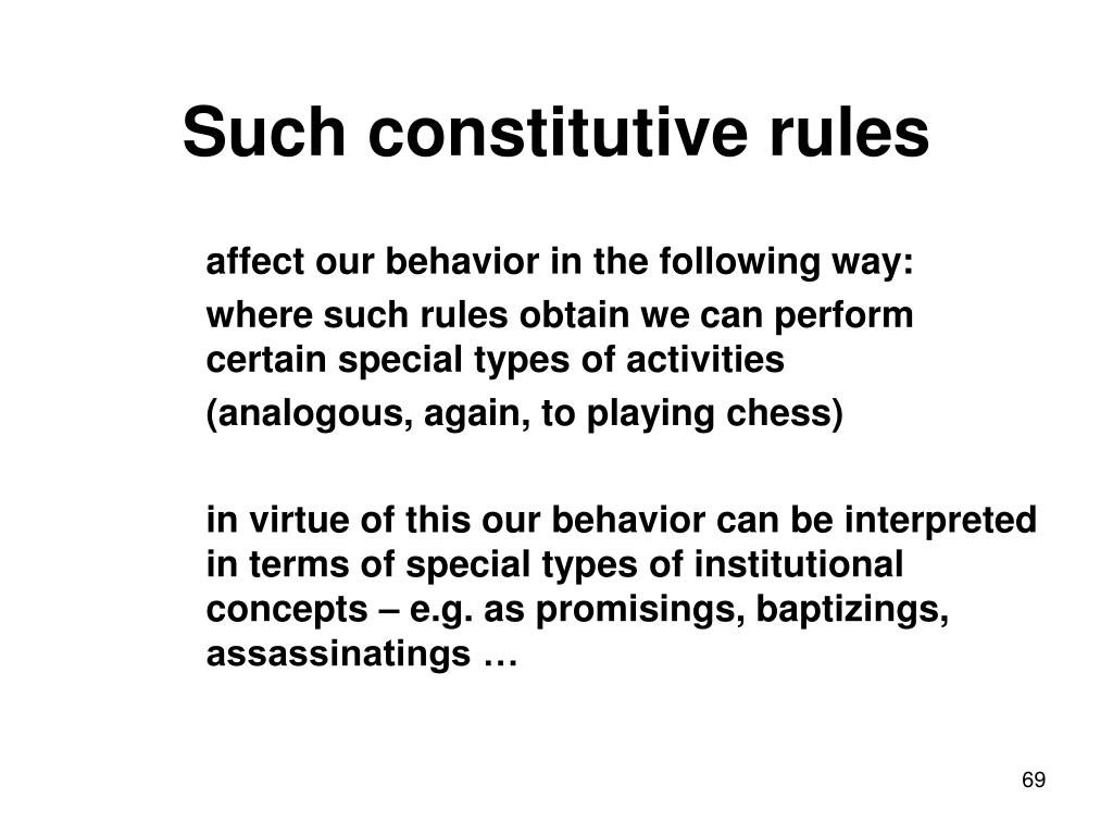 Such constitutive rules