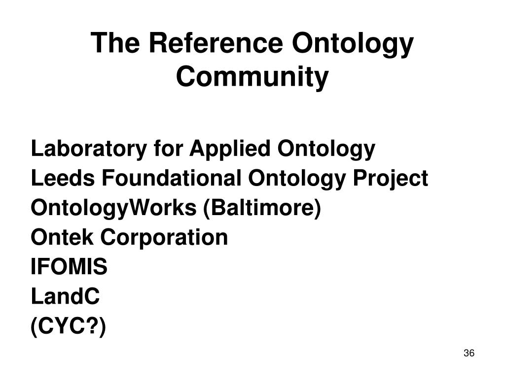 The Reference Ontology Community