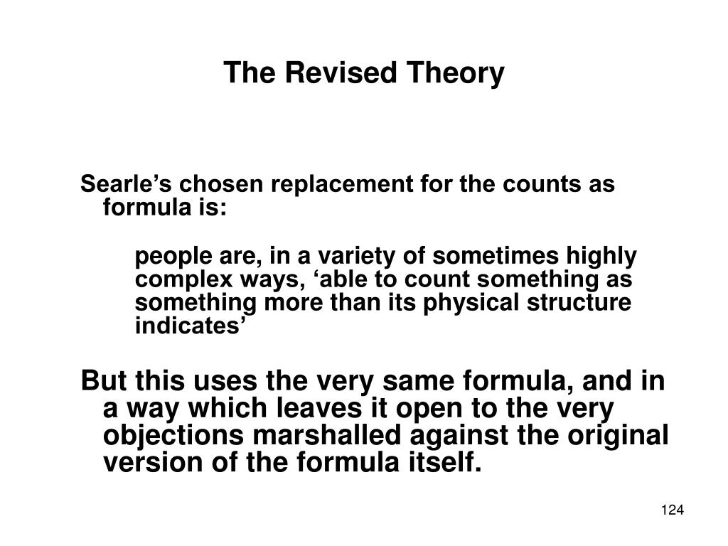 The Revised Theory