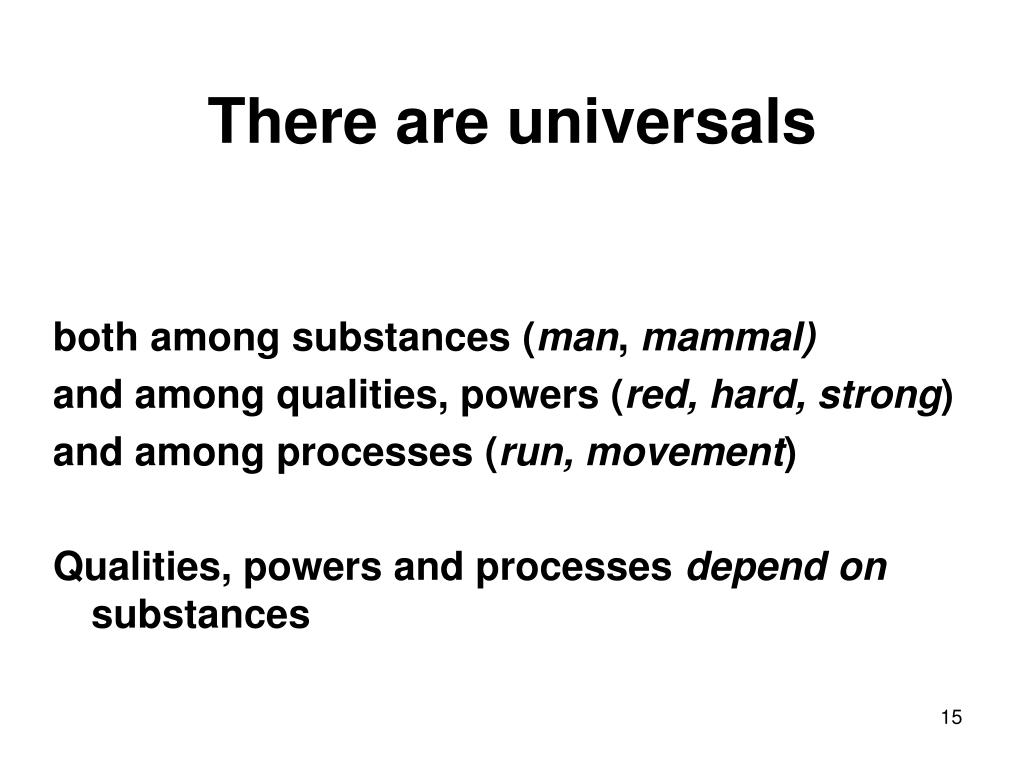 There are universals