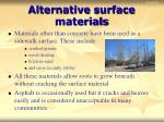 alternative surface materials