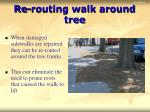 re routing walk around tree