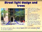 street light design and trees