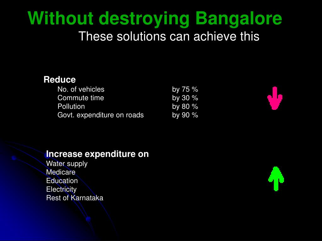 Without destroying Bangalore