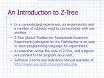 an introduction to z tree
