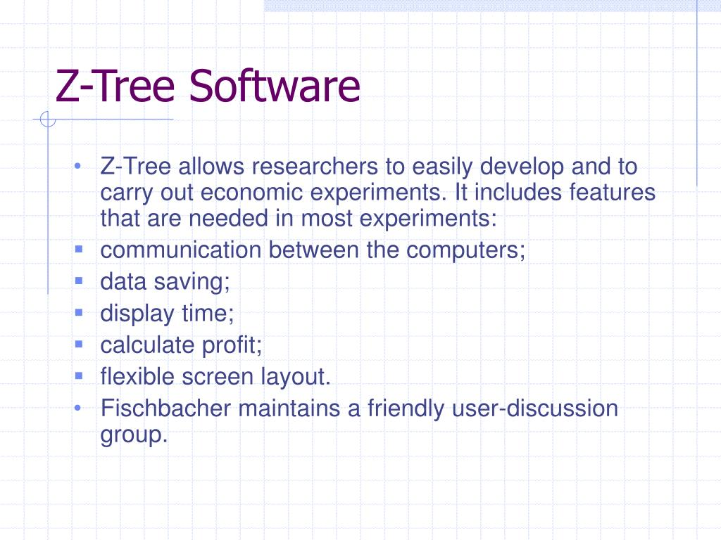 Z-Tree Software