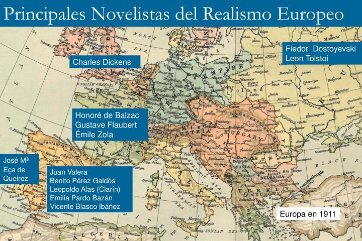 Principales Novelistas del Realismo Europeo