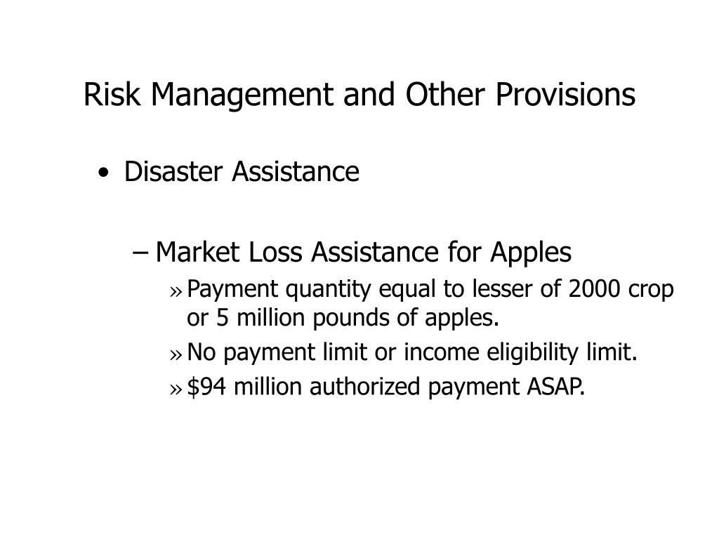 Risk Management and Other Provisions