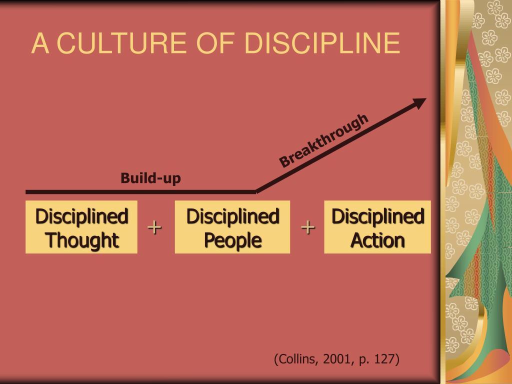 A CULTURE OF DISCIPLINE