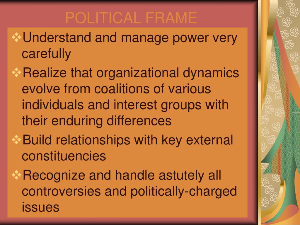 POLITICAL FRAME