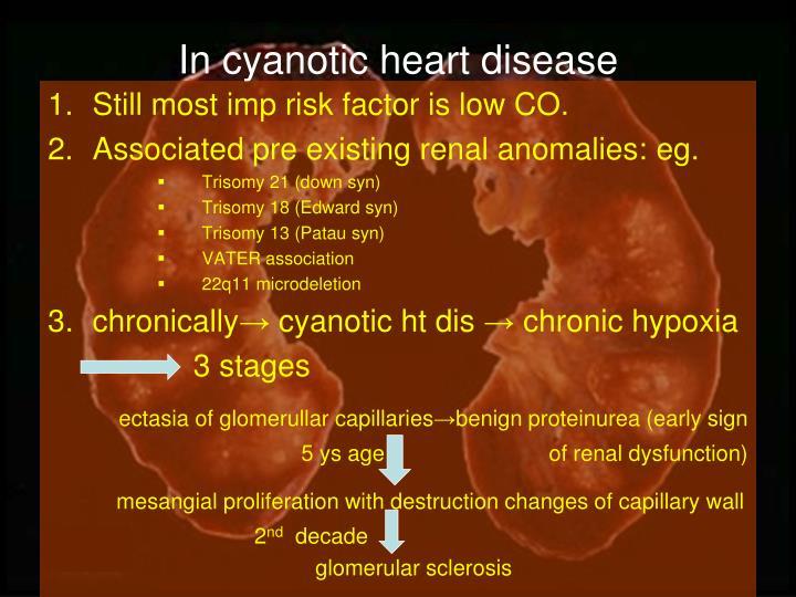 In cyanotic heart disease