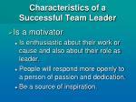 characteristics of a successful team leader9
