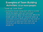 examples of team building activities 15 or more people33