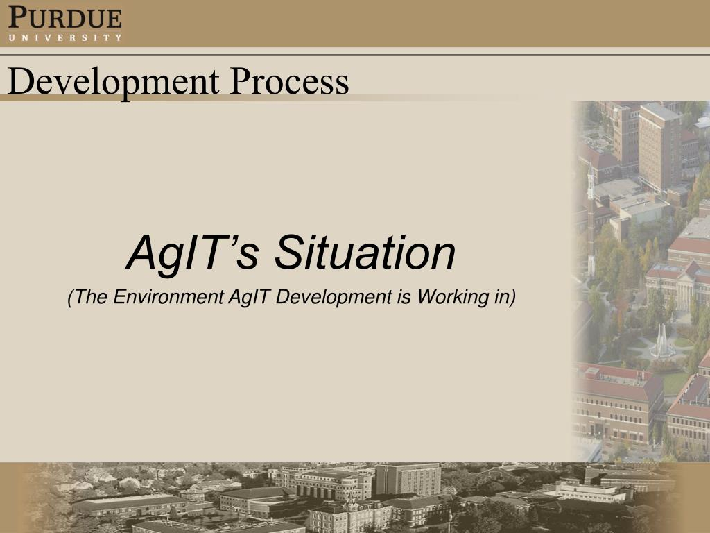 AgIT's Situation