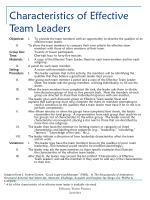characteristics of effective team leaders