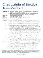 characteristics of effective team members