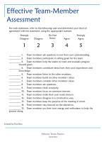 effective team member assessment