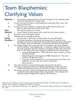 team blasphemies clarifying values