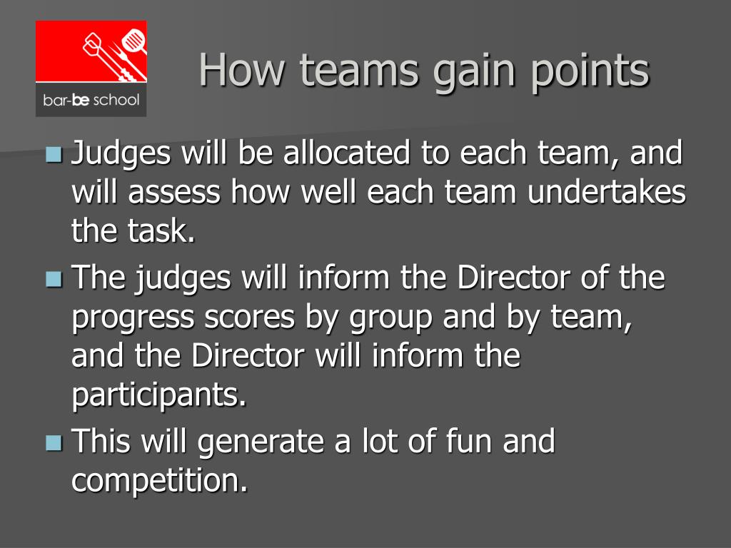 How teams gain points