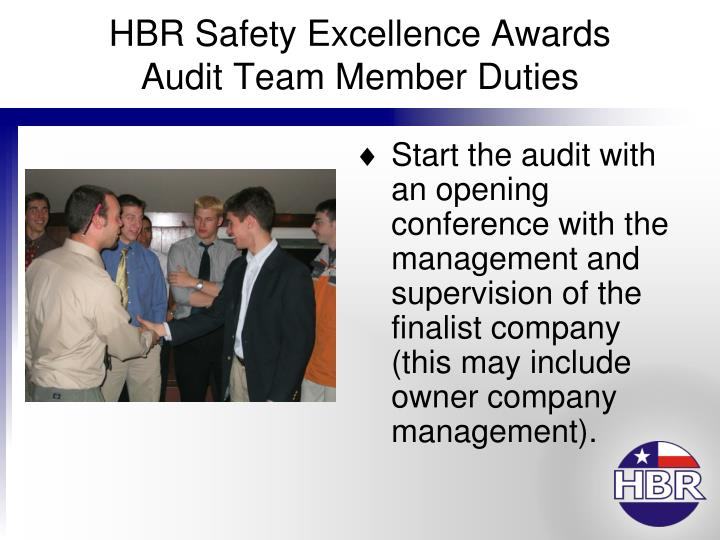 Hbr safety excellence awards audit team member duties3