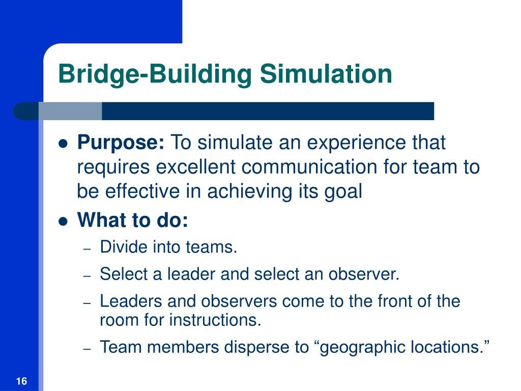 Bridge-Building Simulation