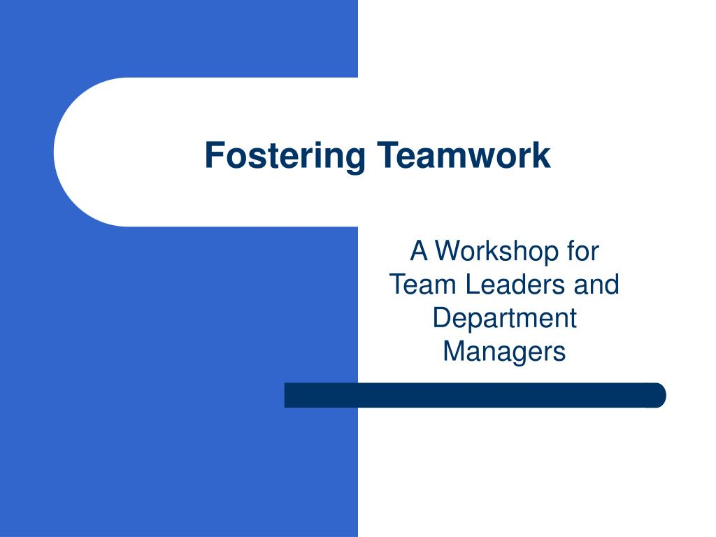 Fostering Teamwork