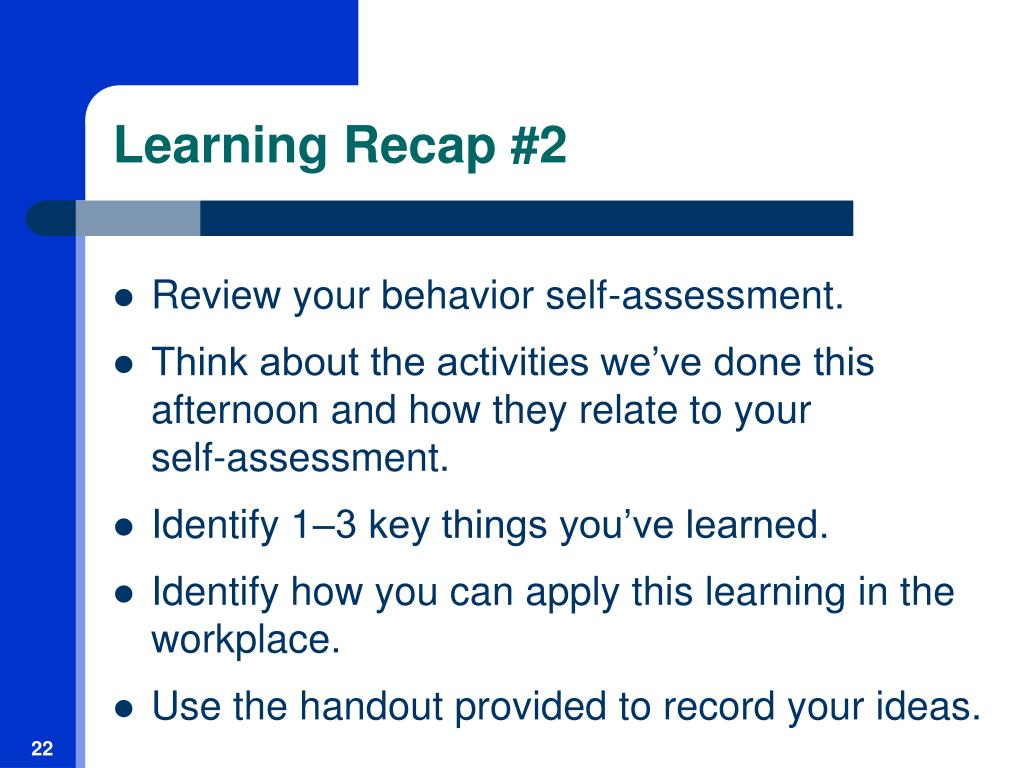Learning Recap #2