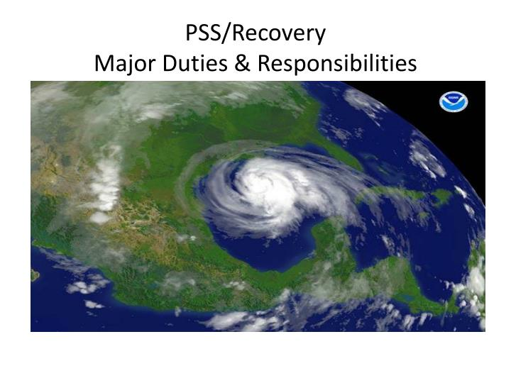 PSS/Recovery