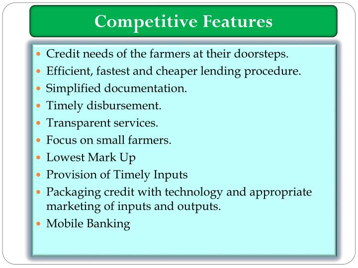 Competitive Features