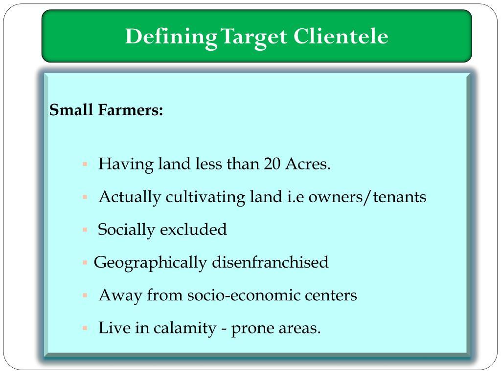 Defining Target Clientele