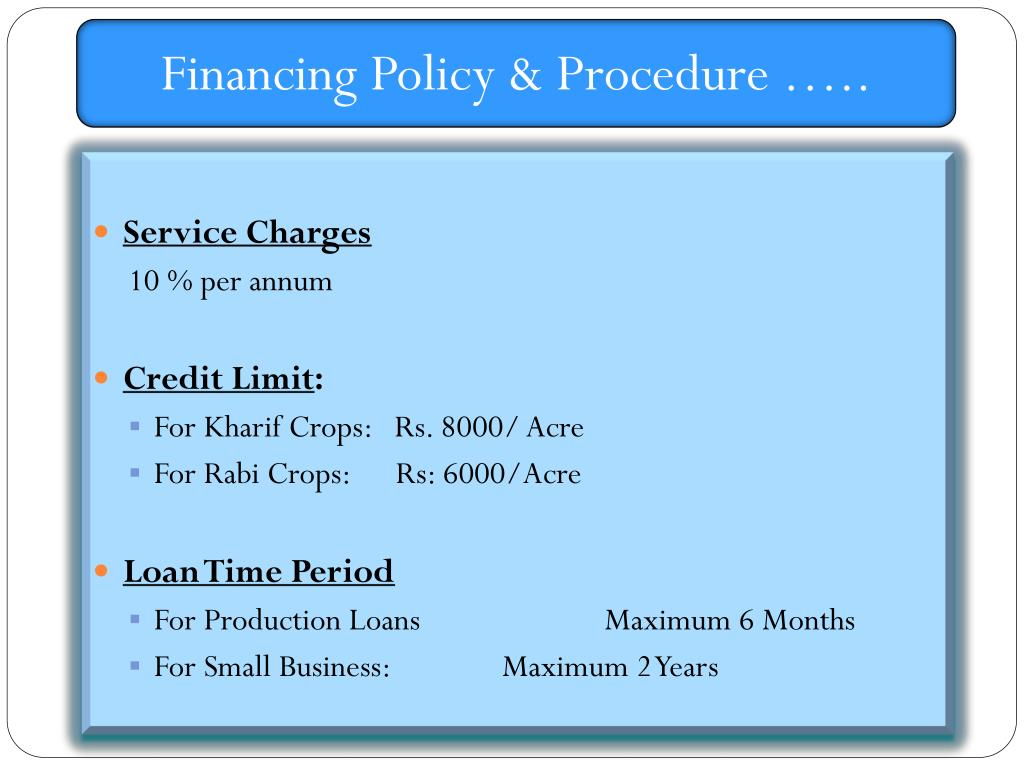 Financing Policy & Procedure …..