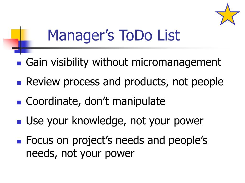 Manager's ToDo List