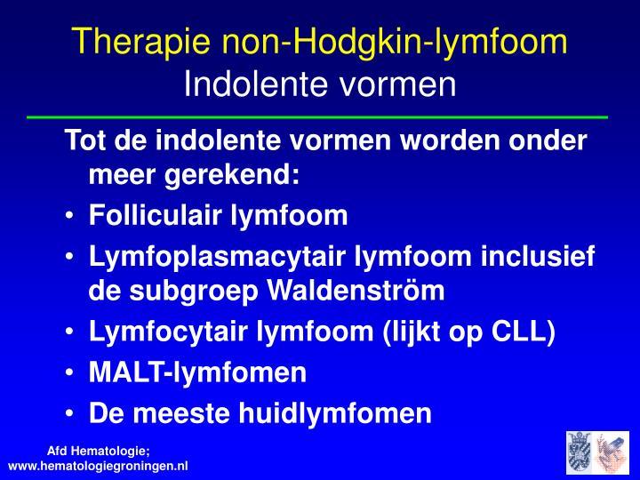 Non Hodgkin Lymfoom