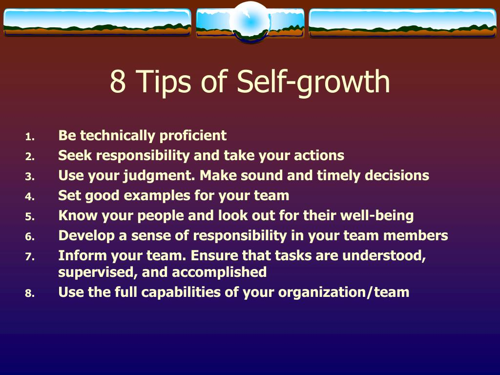 8 Tips of Self-growth