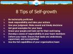 8 tips of self growth