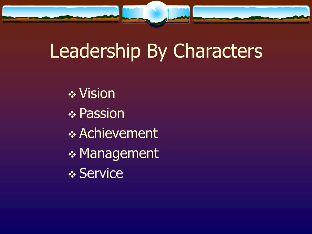 Leadership By Characters