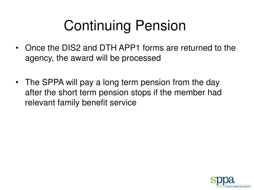 Continuing Pension