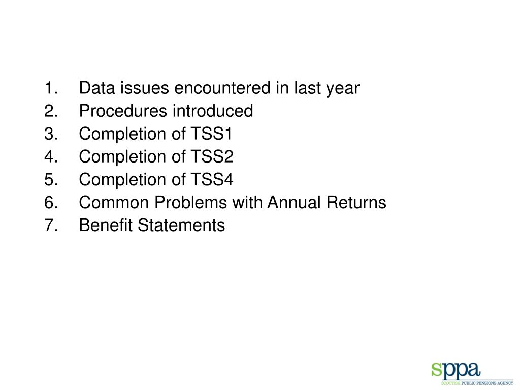 Data issues encountered in last year