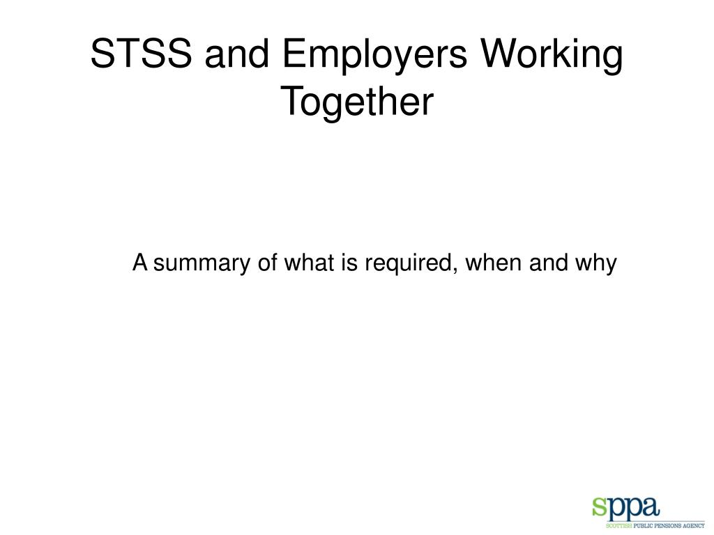 STSS and Employers Working Together