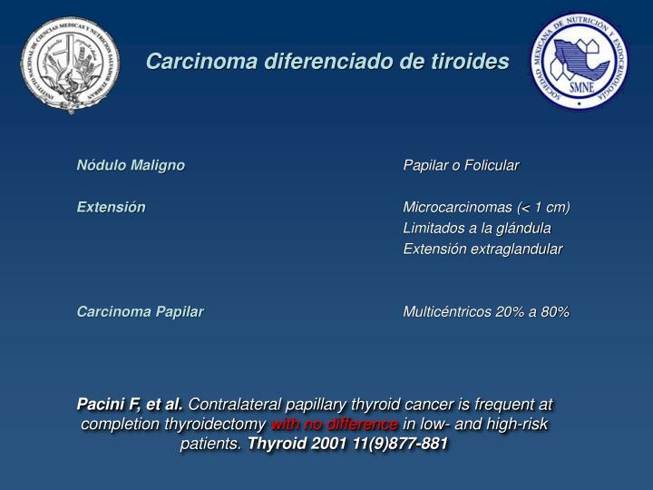 Carcinoma diferenciado de tiroides